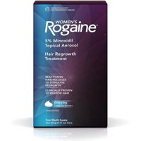Rogaine Women's Hair Regrowth Treatment, 4 Month Supply, 2.11 oz cans, 2 ea