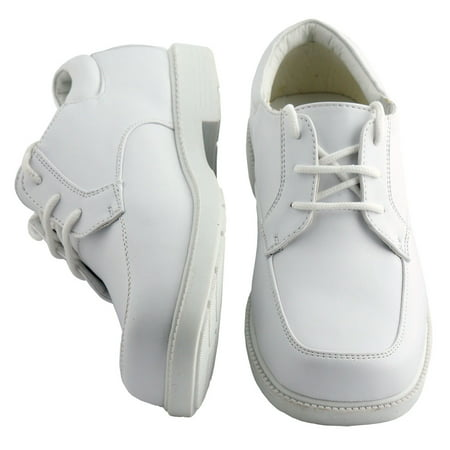 Kids White Square Toe Dress Shoes Toddler Boys Sizes