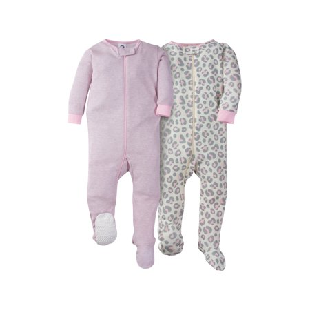 Gerber Girl - Gerber Footed Tight-fit Unionsuit Pajamas, 2pk (Baby Girls)