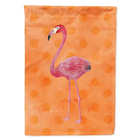 Image of Flamingo Orange Polkadot Flag Canvas House Size