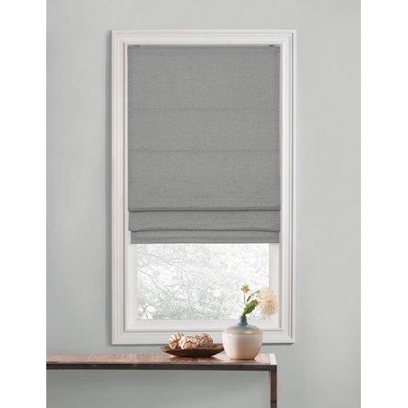 Gray Premium Room Darkening Cordless Roman Shades 30 In