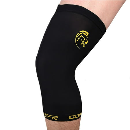 FITTOO Compression Knee Sleeve Copper-Infused, Promotes Increased Blood Flow to The Knee While Supporting Tendons & Ligaments for All Lifestyles