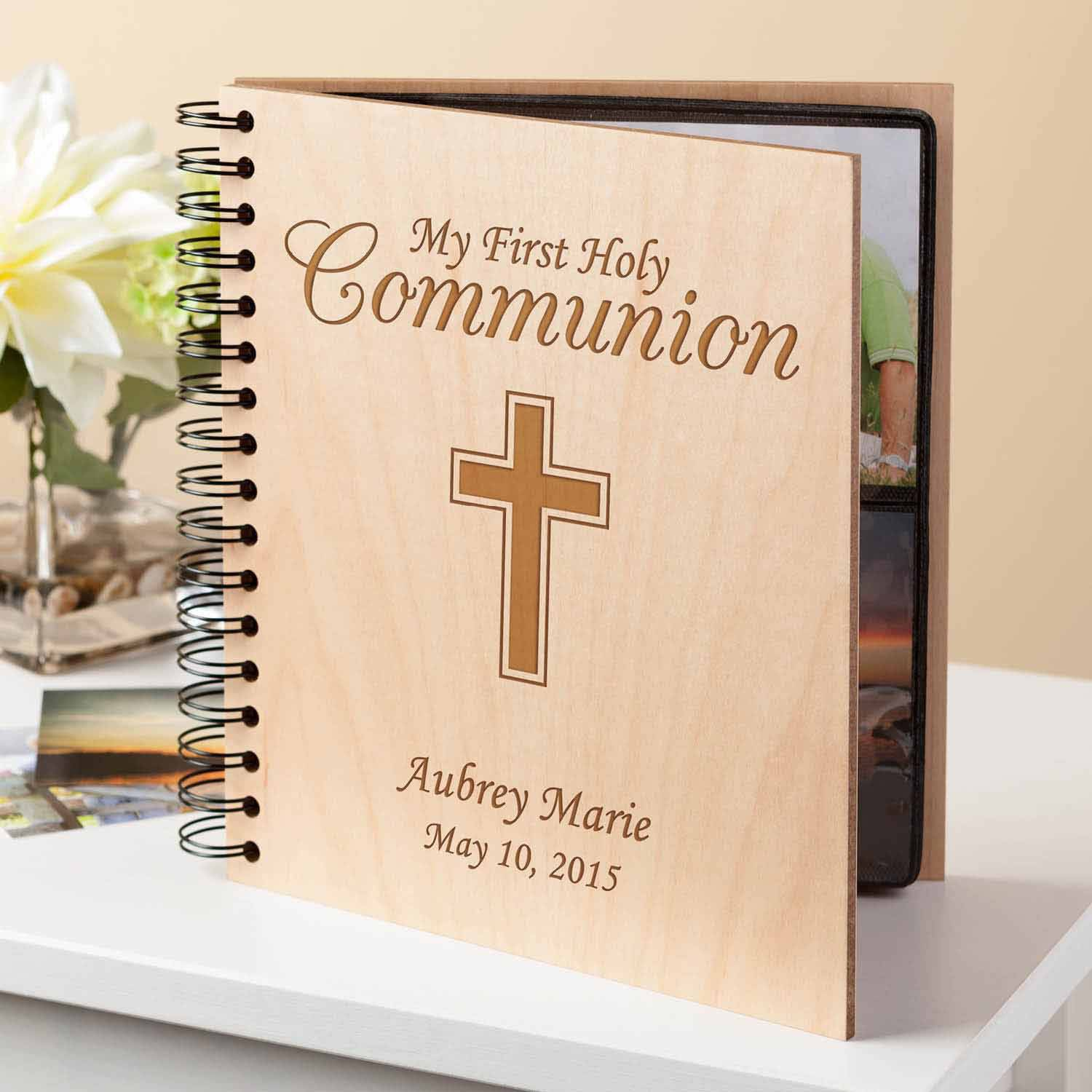 Personalized First Communion Gift Album with Chalice