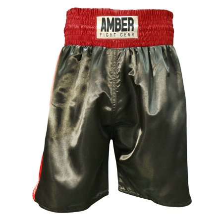 Amber Mens Boxing Shorts MMA Fight Kick Boxing Martial Arts Muay Thai UFC Trunks Black/Red