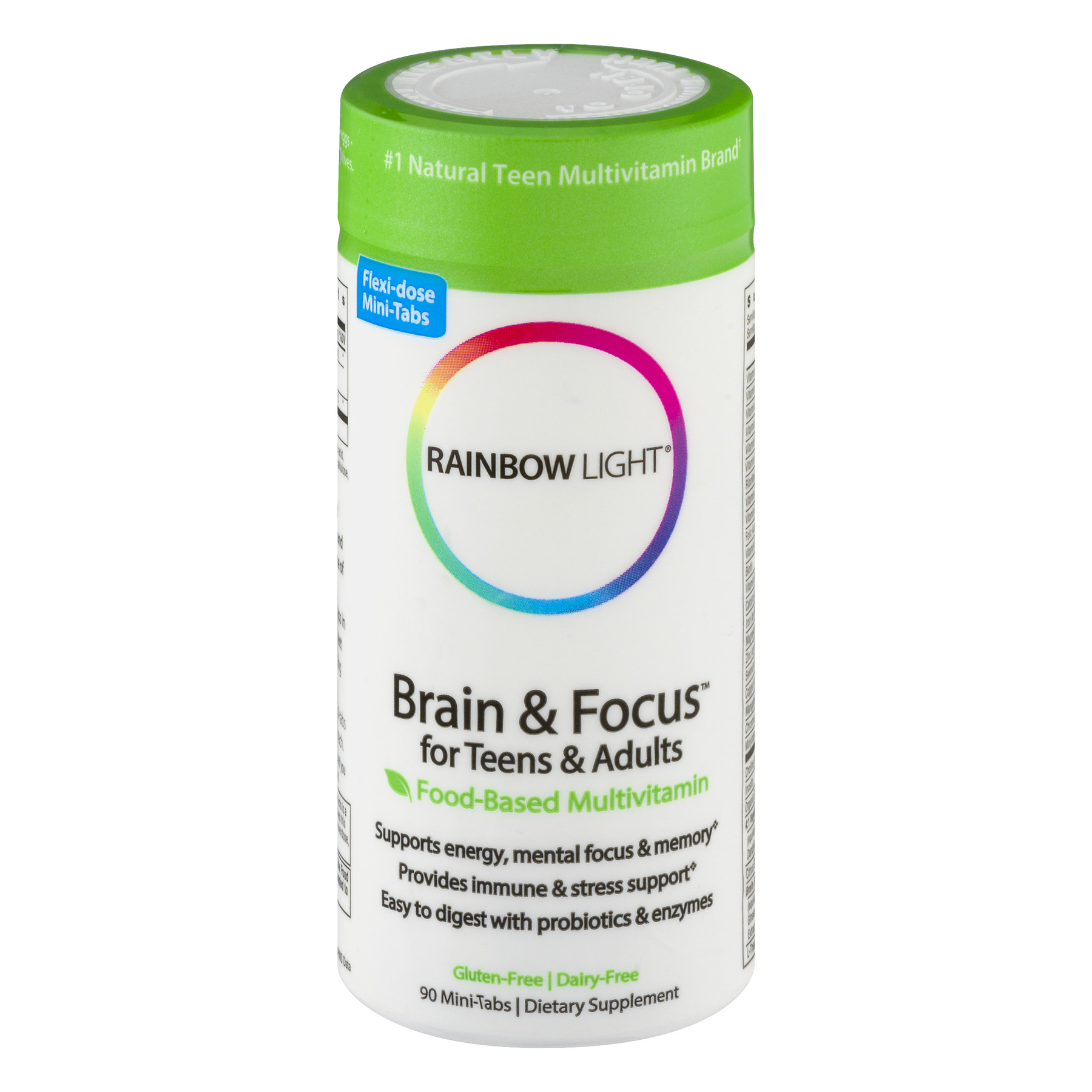 Rainbow Light Brain & Focus for Teens & Adults Mini-Tabs Dietary Supplement - 90 CT