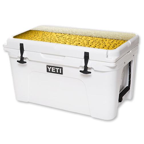 MightySkins Protective Vinyl Skin Decal for YETI Tundra 45 qt Cooler Lid wrap cover sticker skins Beer Buzz