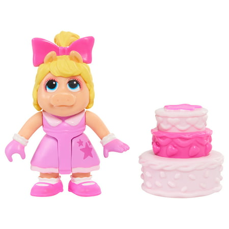 Cake Figurines Kids (Muppet Babies Figure and Accessory Set - Piggy & Birthday)