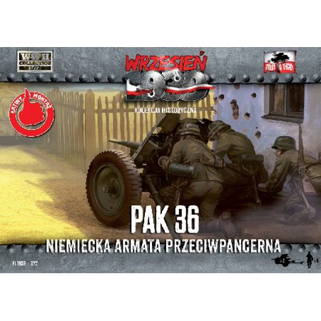 1/72 WWII 3,7cm Pak 36 German Anti-Tank Gun (2) w/6 Crew - image 1 de 1