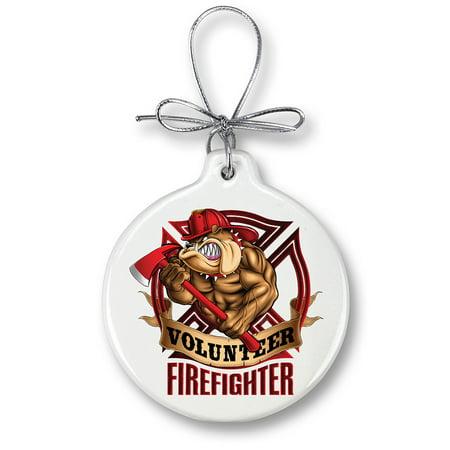 Firefighter Volunteer Dog-Christmas Tree Ornaments