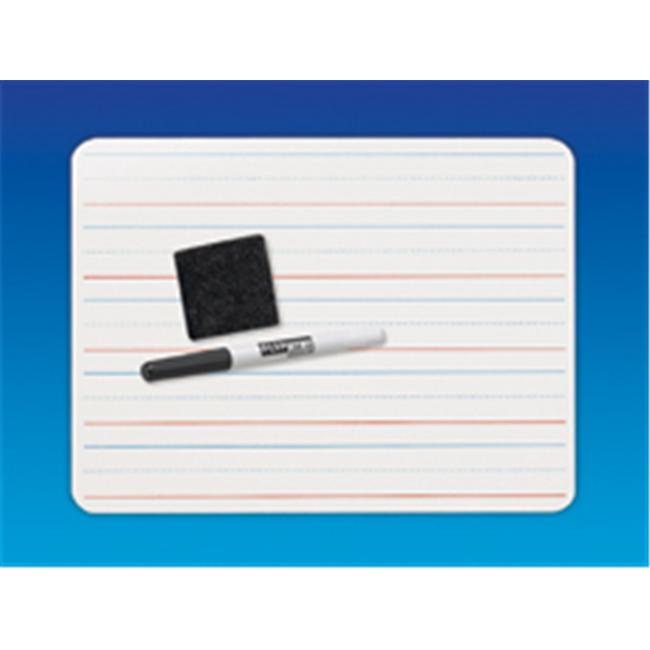 Flipside 12265 Dry Erase Primary Board-Ruled-PlaceValue Plus Pen Plus Eraser - Case of 12