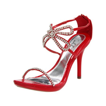 4 Inch Rhinestone Butterfly Shoes Strappy High Heel Sandals Womens Sexy Shoes (Butterfly Pumps)