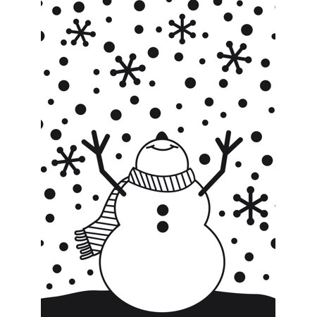 Embossing Folder Snowman Arms Up 4.25X5.75 By
