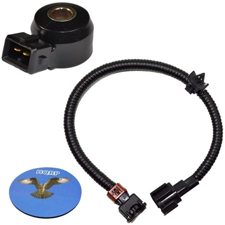 HQRP Knock Sensor w/ Wiring Harness for Infiniti I30 96 97 98 99 1996 1997 1998 1999 plus HQRP Coaster