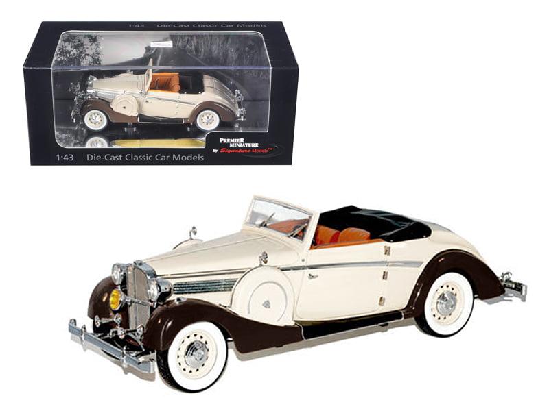 1937 Maybach SW38 Spohn 2 Doors Tan Convertible 1 43 Diecast Car Model by Signature Models by Signature Models