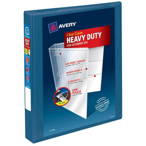 "Avery 1"" Heavy-Duty View Binder with 1-Touch Slant Ring, Blue"