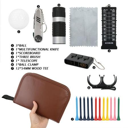 Qiilu Outdoor Sport Golfer Gift Set Tool PU Bag Golf Accessoires Kit Multifunctional,Golfer Tool Kit Bag, Golfer Tool Set Kit Bag - image 6 of 8