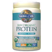 Garden of Life Raw Organic Protein Powder, Unflavored, 22g Protein, 1.2lb, 19.8oz