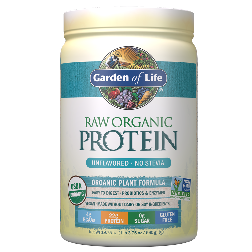 Garden of Life Raw Organic Protein Unflavored 20.0oz (1 lb 4 oz / 568g) Powder