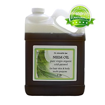 Dr. Adorable - 100% Pure Neem Oil Organic Unrefined Cold Pressed Natural - 7 lb