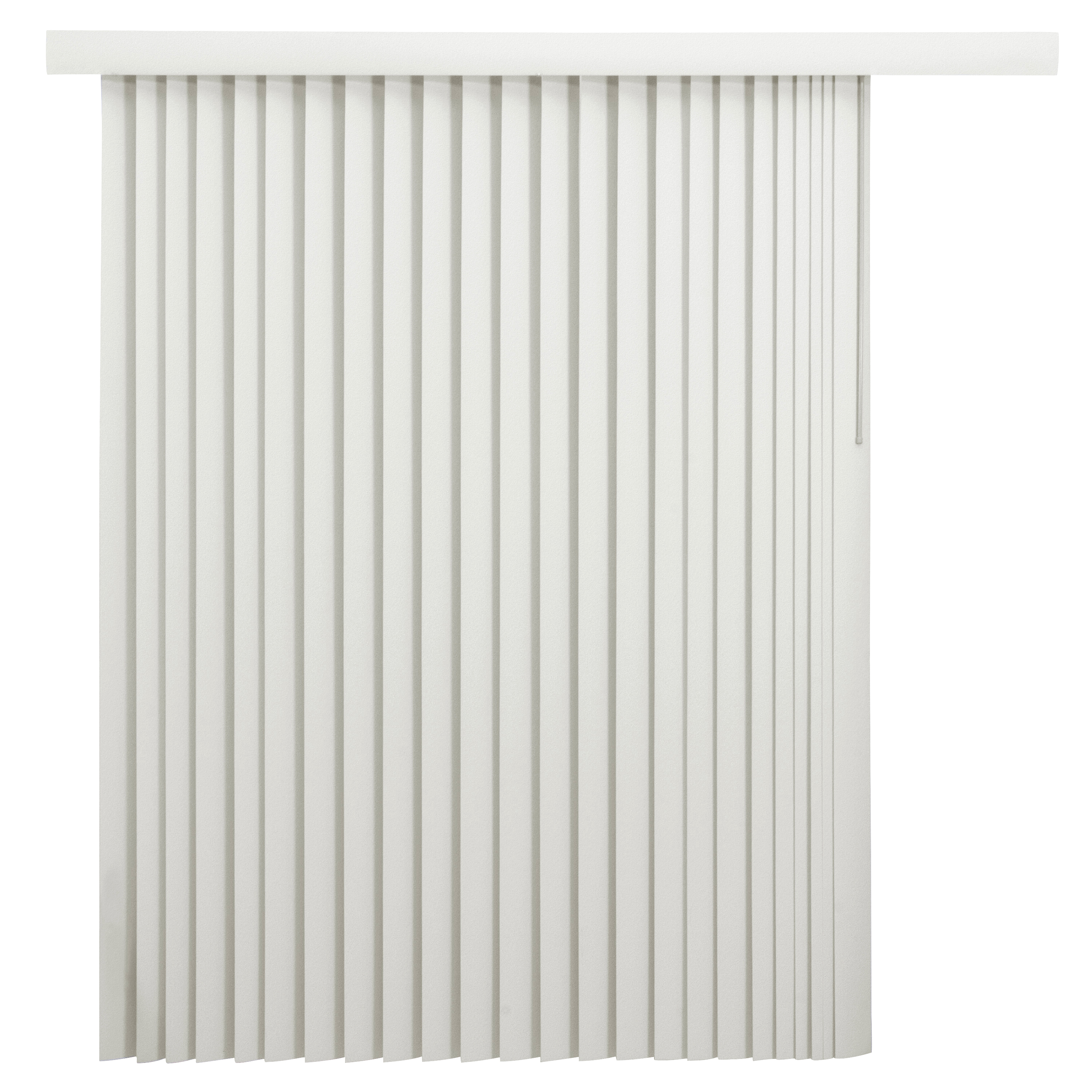 Mainstays Room-Darkening Vertical Blinds with Embossed Leaf Pattern, Oyster