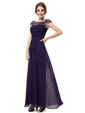 2d447d70cf1 Product Image Ever-Pretty Women s Elegant Floor-Length Lace Neckline Summer  Chiffon Wedding Guest Dresses Prom