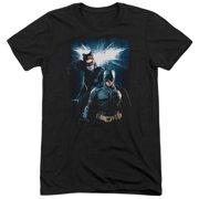 Dark Knight Rises Bat & Cat Mens Tri-Blend Short Sleeve Shirt