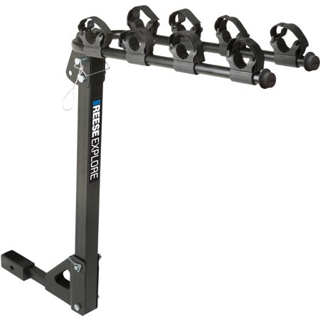 REESE Explore Bike Rack 4-Bike Tilt Hitch Mount, Model# 1393100G ()