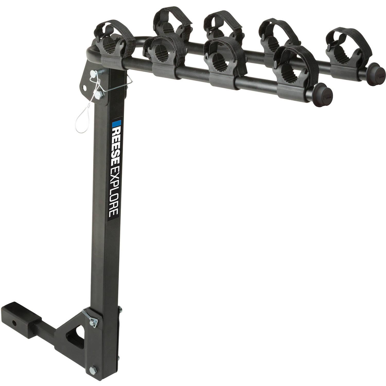 REESE Explore Bike Rack 4-Bike Tilt Hitch Mount, Model# 1393100G