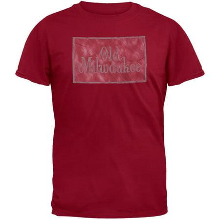 Old Milwaukee - Logo Maroon T-Shirt ()