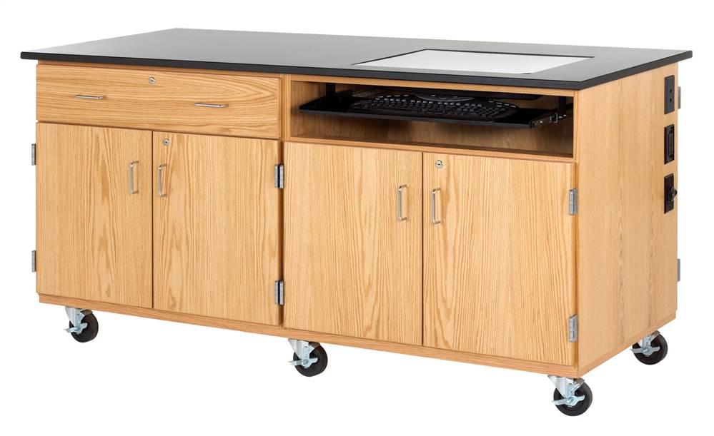 Diversified Woodcrafts 4544K Oak Mobile Media Cabinet by Diversified Woodcrafts, Inc.