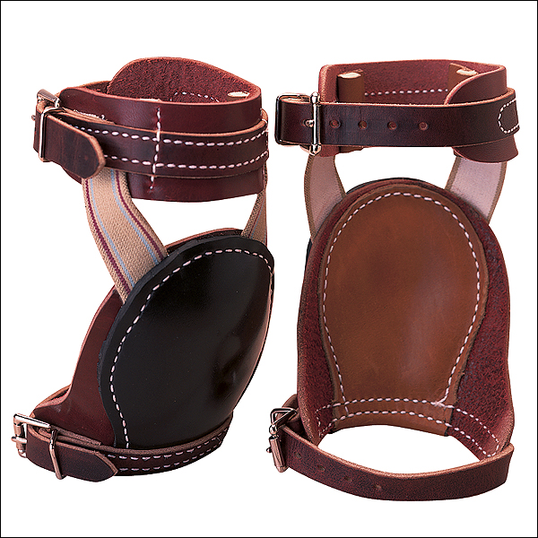 WEAVER LEATHER HORSE SKID BOOTS BURGUNDY LATIGO LEATHER PAIR HORSE SIZE