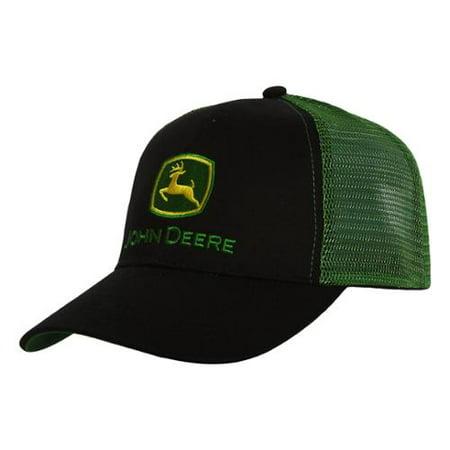 John Deere Adjustable Trucker Hat - Green/Black