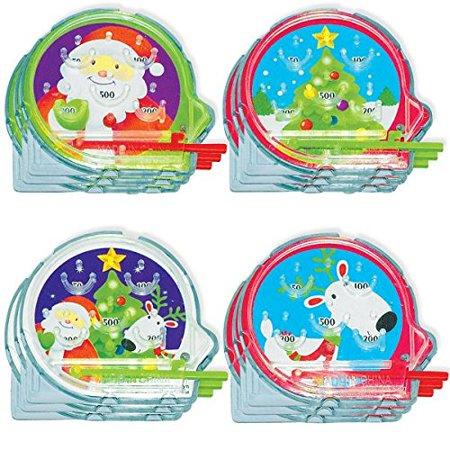 Christmas Party Activities (Amscan Festive Christmas Pinball Game Party Activity, Multicolor, 2 1/8