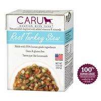 (12 pack) Caru Real Turkey Stew Wet Dog Food - 12.5
