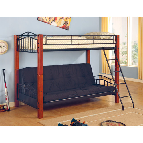 Coaster Furniture Collins Twin Over Futon Bunk Bed Walmart Com
