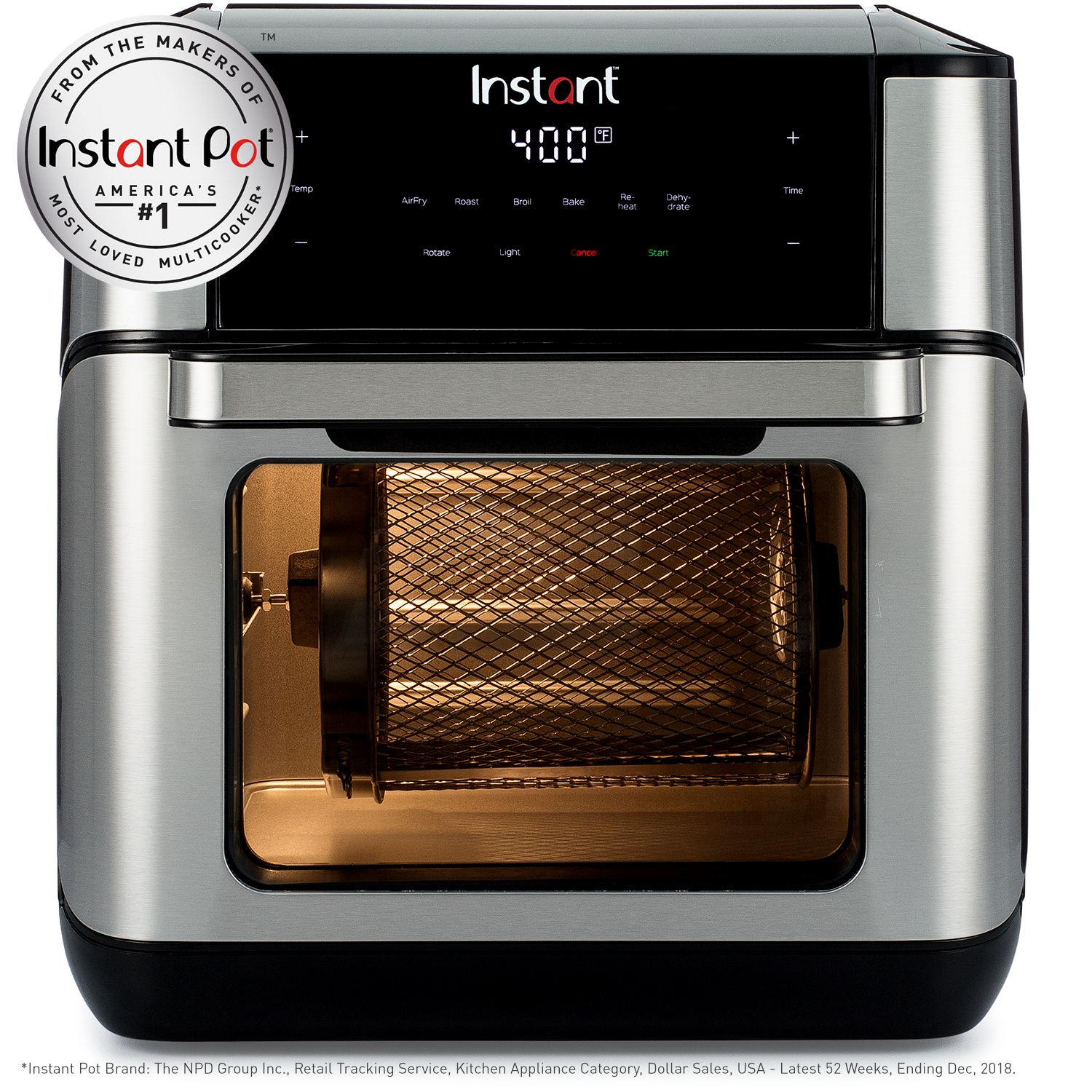 Instant Vortex Plus 10qt 7 In 1 Digital Air Fryer Oven With