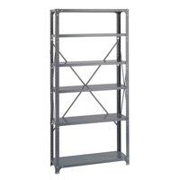 Commercial 6 Steel Shelf Kit in Dark Gray Finish (12 in.)