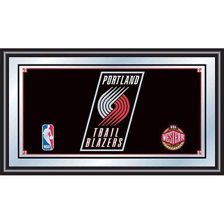 Portland Trail Blazers NBA Framed Logo Mirror by