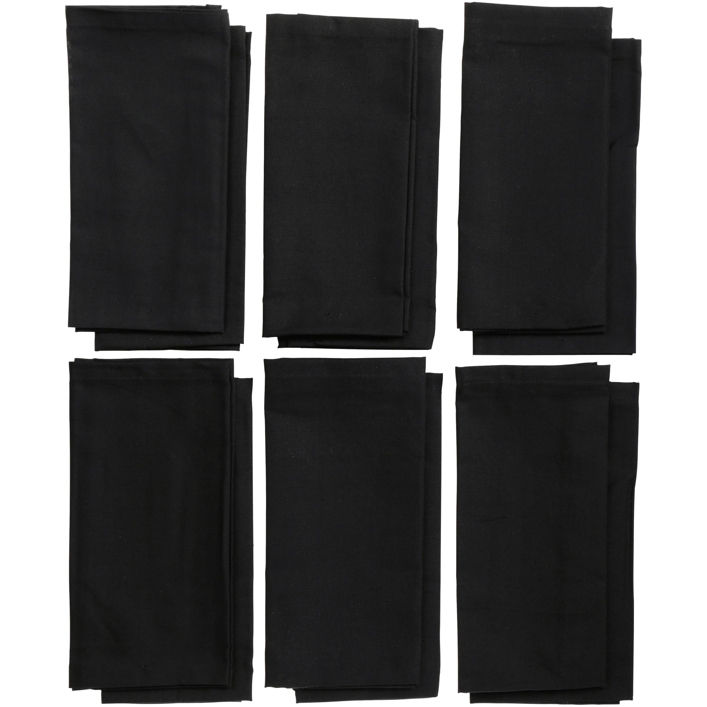 100/% Polyester Washable Cloth Napkins B Waysle 17 x 17-Inch Napkins Set of 12
