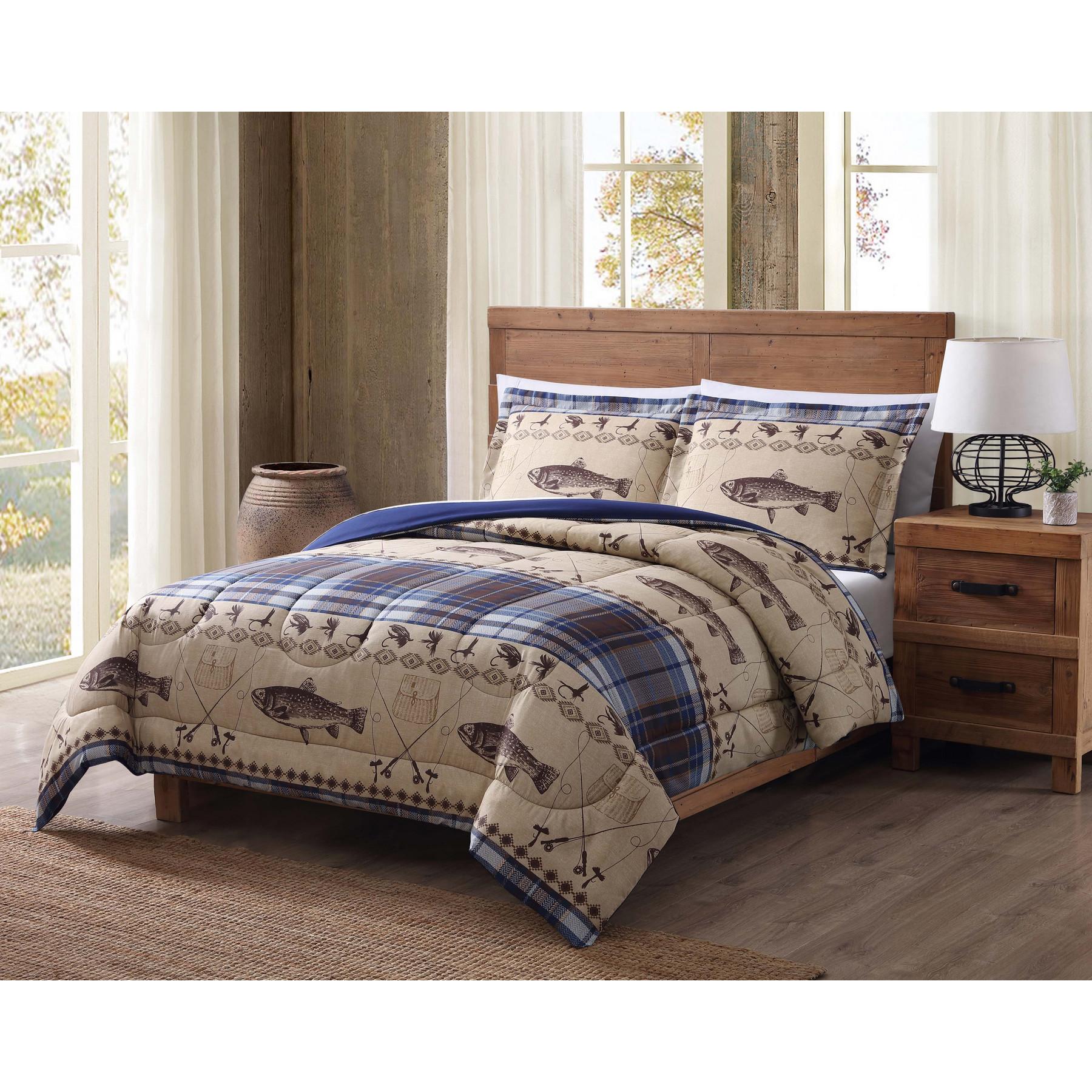 Remington Fly Fishing Twin Comforter Set Walmart Com