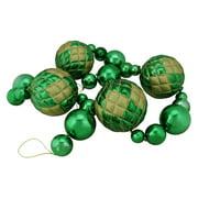 Northlight Oversized Shatterproof 6 ft. Shiny Christmas Ball Garland - Green