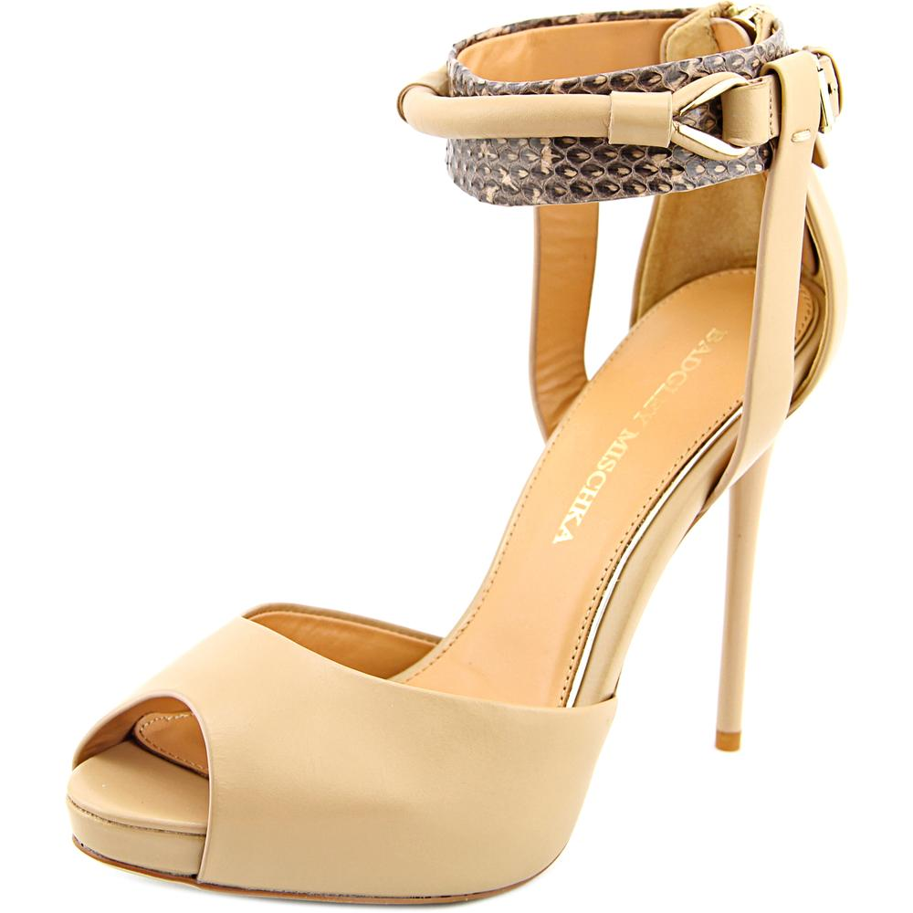Badgley Mischka Gipsy Open Toe Leather Sandals by Badgley Mischka