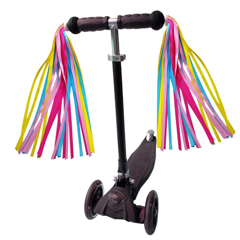 Kid Bike Streamers Colorful Ribbons Tassel Scooter Color Handgrip Hot