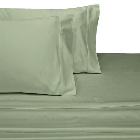 Luxury Split Top King Adjule Bed Sheets Halft Ed With Deep Pockets 100 Cotton 300 Thread Count Solid Sage