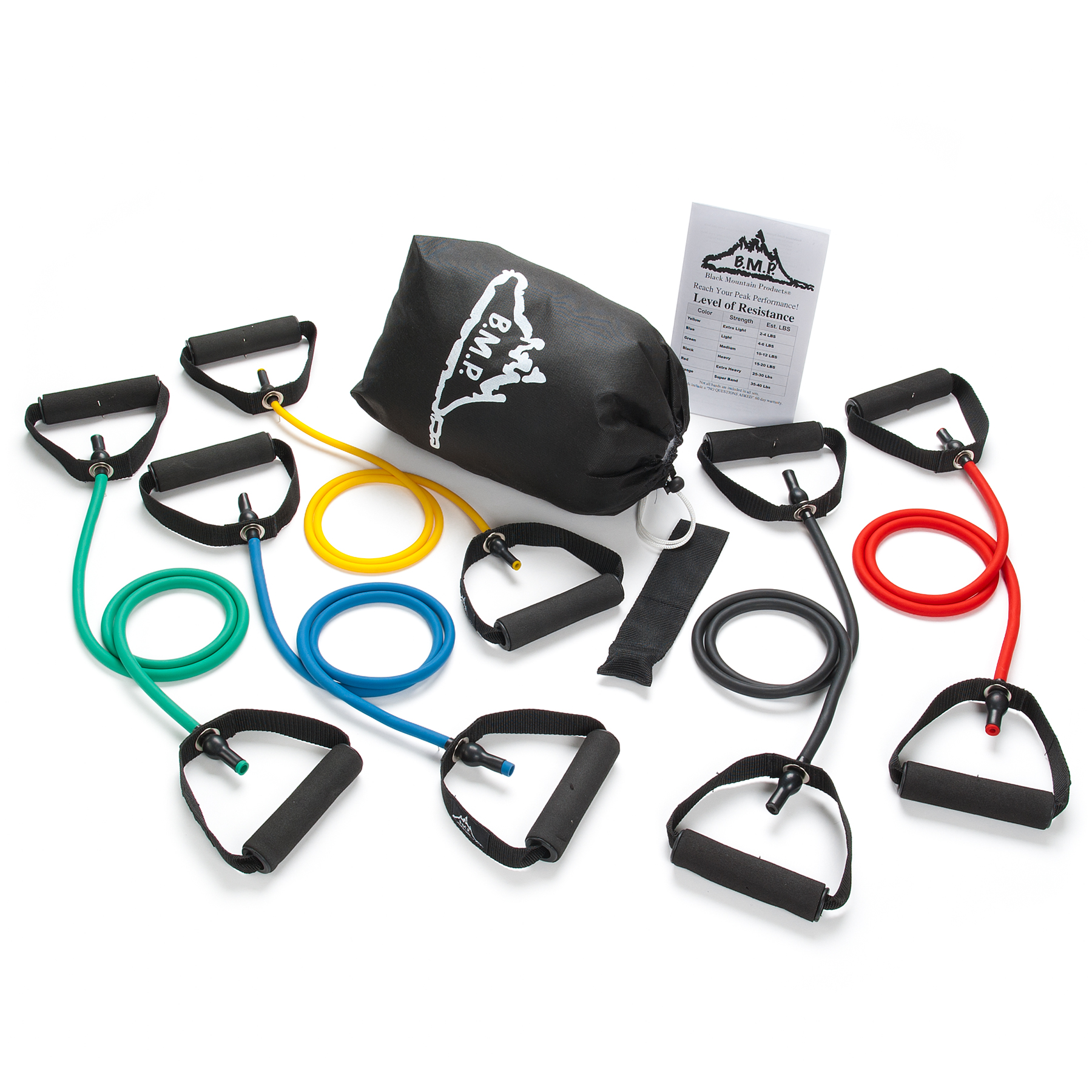 Black Mountain Products Resistance Band Set (Five Bands Included)