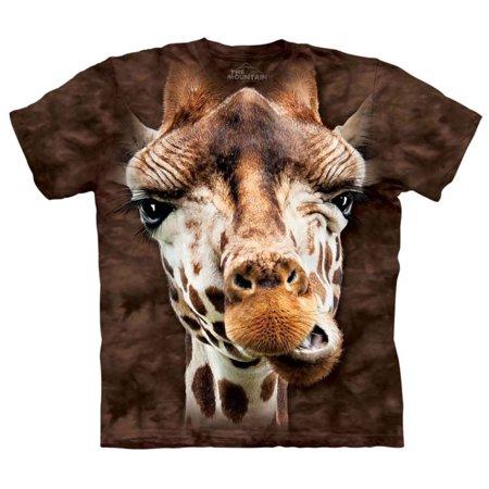 Brown 100% Cotton Giraffe Realistic Graphic T-Shirt