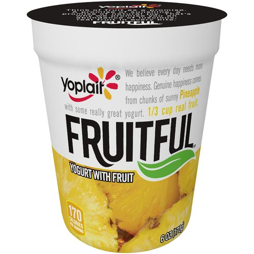 Yoplait Fruitful Pineapple Yogurt, 6 oz