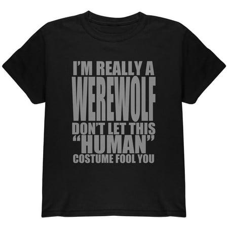 Human Werewolf Costume Youth T Shirt - Female Werewolves