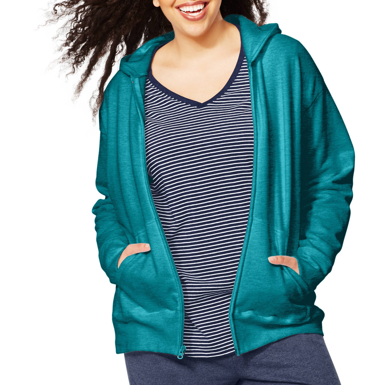 Just My Size Women's Plus-Size Fleece Zip Hoodie
