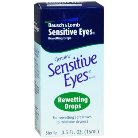 3 Pack - Bausch & Lomb Sensitive Eyes Rewetting Drops 0.50